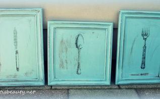 vintage wall art diy, chalk paint, painting, repurposing upcycling