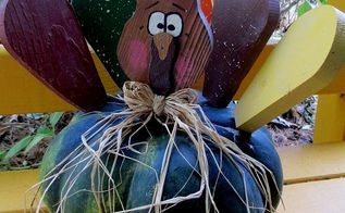 autumn garden accents inside and out, flowers, gardening, seasonal holiday d cor, thanksgiving decorations, Turkey Gourd