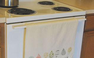 diy kitchen towel, crafts, purchase a plain kitchen towel