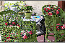 my favorite outdoor seating area it started with repainting the porch then i, outdoor living, porches, Love how the wicker rockers turned out
