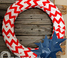 cereal box star tutorial, crafts, patriotic decor ideas, repurposing upcycling, seasonal holiday decor, wreaths
