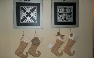 burlap christmas stockings, christmas decorations, seasonal holiday decor