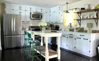 vintage modern rustic home tour, home decor, We made the island Really I promise