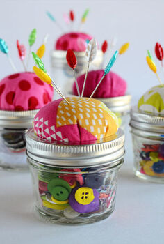 mason jar pin cushion, crafts, mason jars, Here s the finished product