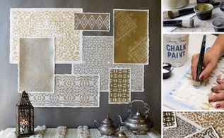 how to stencil moroccan stencils in metallics for amazing wall art, painting, How to Stencil Moroccan Metallics with Royal Design Studio Stencils