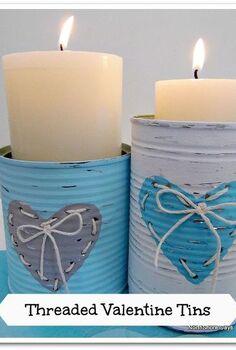 threaded valentine s tins, crafts, seasonal holiday decor, valentines day ideas