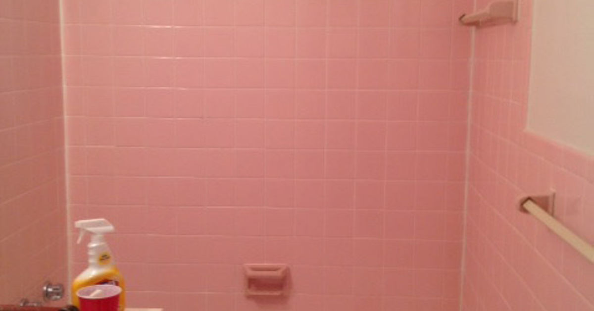 How Remove The Adhesive From Pink Wall Tiles