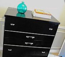 classy fying a broken dresser, painted furniture, And I just realized that the hardware on the top drawer is upside down Awesome
