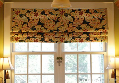 Make your own no sew faux roman shade hometalk Make your own shade house
