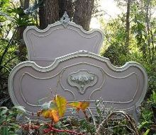 painted french bed by junk drawer diva, painted furniture, repurposing upcycling, Voila