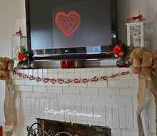 our valentine s day mantel, seasonal holiday d cor, valentines day ideas, Our Valentine s Day mantel