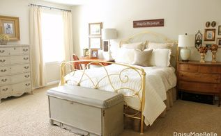decorating our master bedroom, bedroom ideas, home decor, I ve painted the trunk at the end of the bed