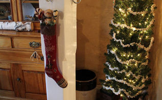 from outdoor porch to indoor coat tree, diy, foyer, repurposing upcycling, seasonal holiday d cor, The after shot