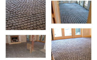 one large cobblestone floor, flooring, 1 500sf of Cobblestone I installed by myself in the Daggett basement