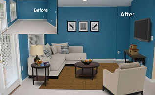 virtual staging before after photo of the week the rec room, entertainment rec rooms, home decor, Photo courtesy of VSP