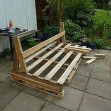 pallet sofa, outdoor furniture, outdoor living, painted furniture, pallet