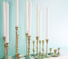 paint dipped brass candlestick, crafts, DIY Paint Dipped Brass Candlestick via Inspired by Charm