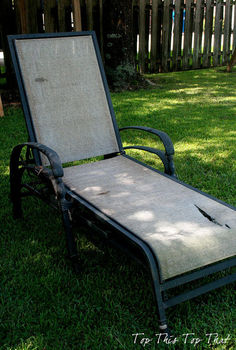 refurbish your old chaise loungers, outdoor furniture, outdoor living, painted furniture, Lounge Chair before
