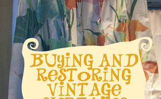 buying and rehabbing vintage curtains, home decor, Vintage Curtains