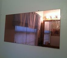 q removing an old wall mirror, home maintenance repairs, how to, wall decor, Old mirror removal