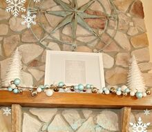 simple christmas mantle, christmas decorations, seasonal holiday decor
