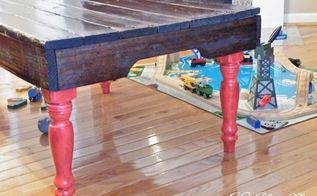 family project turn a used pallet into a sexy leg coffee table, diy, painted furniture, pallet, repurposing upcycling, woodworking projects, THAT S what I m talking about Click the blog link for more pics and details