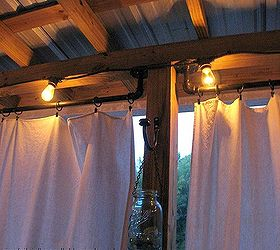 How To Make Curtain Rods From Plumbing Parts, Outdoor Living, Porches,  Reupholster,