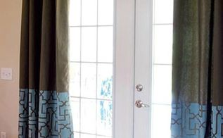 how to stencil moroccan inspired pattern ideas for curtains, home decor, painted furniture, reupholster, window treatments, Sarah used our Large Moroccan Key Stencil in her curtain make over project