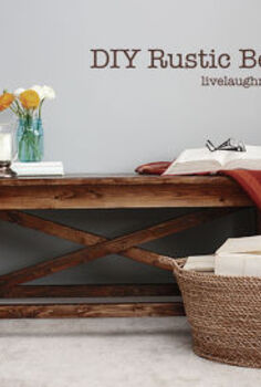 diy rustic wood bench, diy, painted furniture, rustic furniture, tools, woodworking projects, The finished product We decided to stain this one and I m so glad we did
