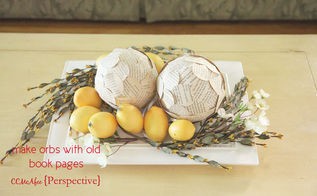 the paper orb from an old book, crafts, repurposing upcycling