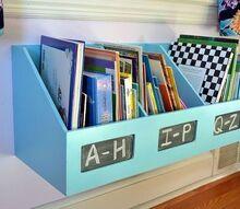organizer turned kids bookshelf, storage ideas