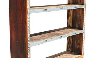 custom industrial bookcase with surveyor s stick, shelving ideas, woodworking projects