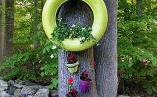 tires for planters, gardening, repurposing upcycling