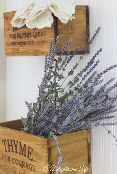 decorating with herb nesting crates, gardening, home decor, kitchen design
