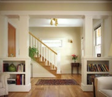 q room divider, diy, how to, woodworking projects, This is sort of what I am looking to do but with round pillars and an open top so the pillars will go all the way to the ceiling