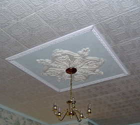 How to paint styrofoam ceiling tiles