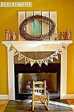 fall mantel ideas, seasonal holiday decor