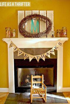 fall mantel ideas, seasonal holiday decor