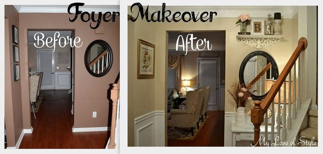 Budget Shabby Chic Foyer Makeover Foyer Home Decor Shabby Chic Shabby Chic