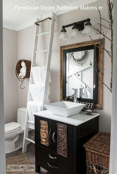 make your own farmhouse bathroom yourself, bathroom ideas, home decor