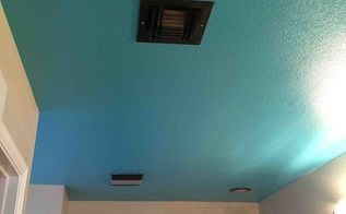 blue project bathroom, bathroom ideas, home decor, painting, Finished Now to paint the walls an off white
