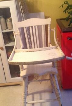 i have my mothers old high chair it was used around 1938 please help, painted furniture, repurposing upcycling