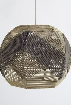 woven twine lampshade, crafts, home decor, I LOVE West Elm s new Huron woven pendant so I decided to make my own