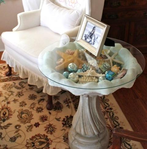 make a curio display table from a bird bath  home decor  painted furniture. Make a Curio Display Table from a Bird Bath   Hometalk