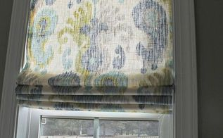 diy roman shades, diy, home decor, reupholster, window treatments, windows