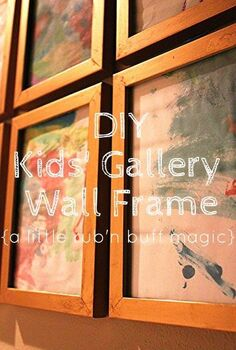 diy gold frames kids mini gallery wall, crafts, home decor, repurposing upcycling