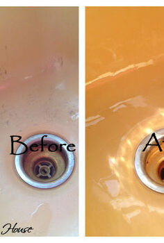 a clean sink s friend, cleaning tips, Before It was scratched and stained and ugly After Bright and shiny scratch and stain free
