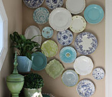 creating an eclectic wall plate arrangement, home decor, wall decor, This is the final wall finished