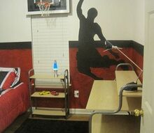 special bedroom project for two deserving kids, bedroom ideas, home decor, Miami Heat Basketball themed room