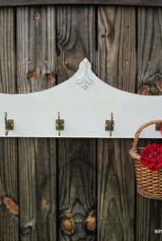 furniture salvage piece repurposed into coat rack, repurposing upcycling, storage ideas, Repurposed coat rack